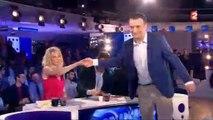 Clémentine Célarié refuse de serrer la main de Florian Philippot dans On n'est pas couché