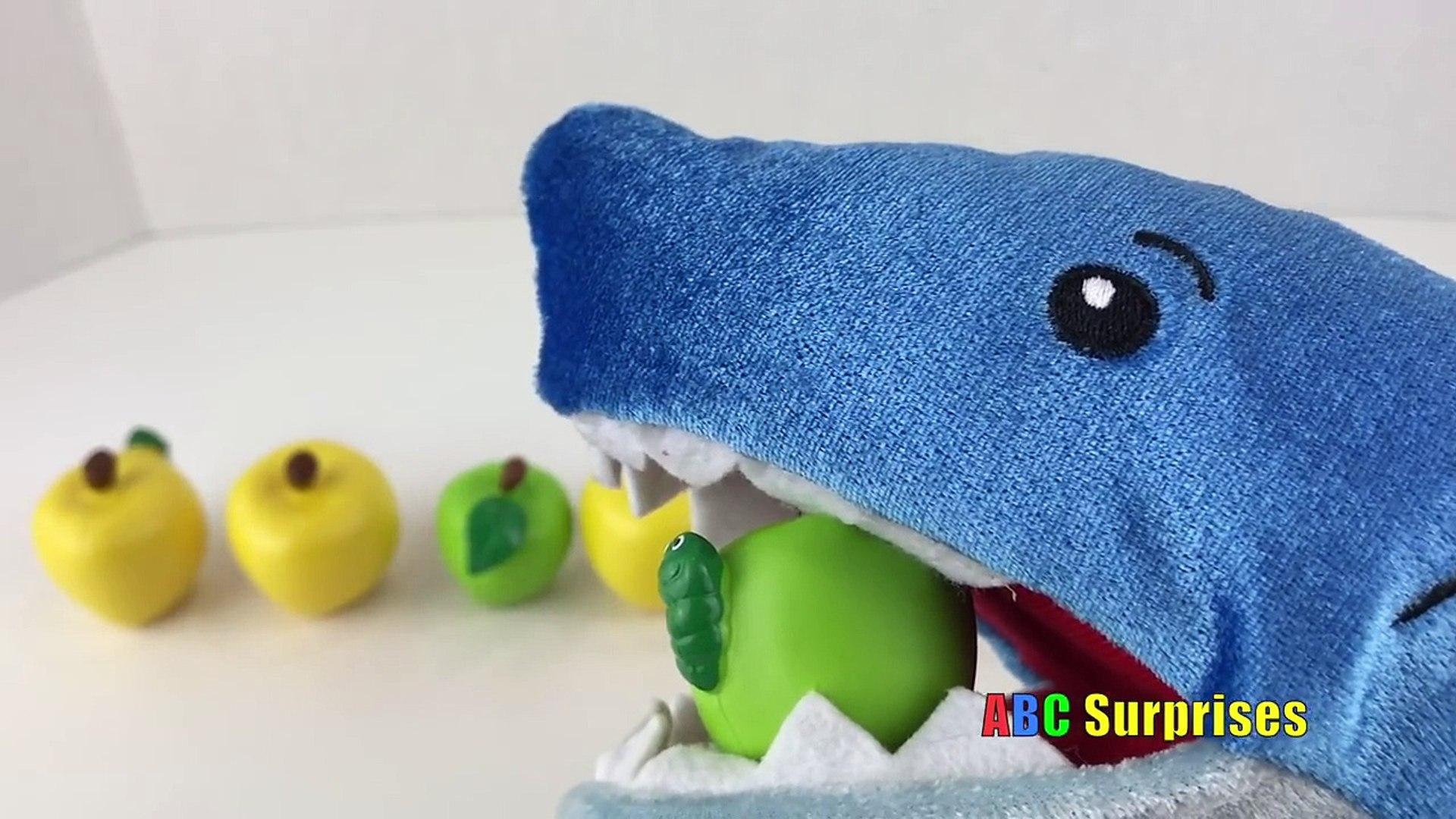 Домашнее животное акула атака Узнайте фрукты и овощи питание имен цвета азбука сюрпризы Игрушки для