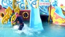 #Spiderman POOL SURPRISE! w/ Spiderman Pranks Frozen Elsa Swimming Pool! Funny Superhero Video HD