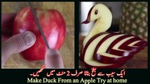 Make a duck from apple