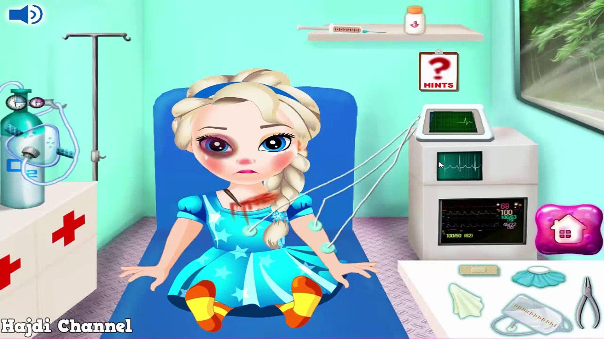 Скорая помощь Детка ребенок дисней Эльза замороженные игра Новые функции