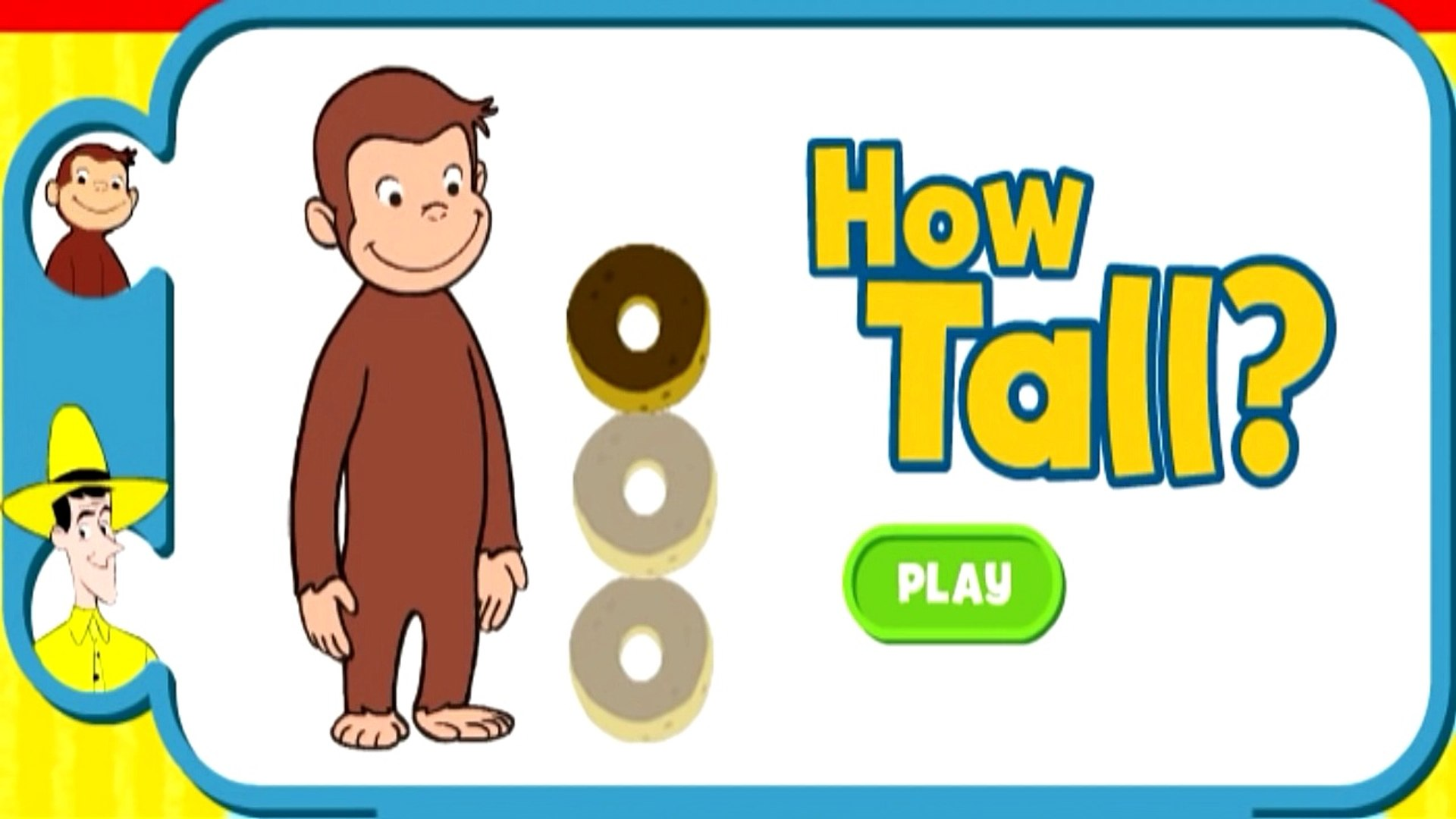 Curious George How Tall Kids Education Games Movies