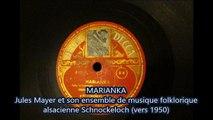 Jules Mayer 4 Marianka 78t musique folklorique alsacienne (Je disque je veux)