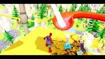 SPIDERMAN SAVES The Snow Queen ELSA (Frozen) & MCQUEEN (Cars 2) from T-Rex Dinosaurs Attac