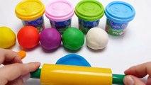 Aprender los Colores con Plastilina de helados de Paletas de Peppa Pig Elefante Moldes Creativas y Divertidas para los Niños