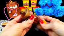 Play Doh Sweets Cafe Chocolate Poppers + Cookie Monster Eating Cookies with Disney Cars Ma