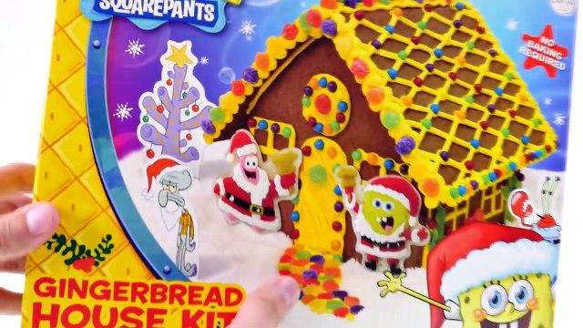 Spongebob + Patrick Gingerbread House Kit --- Gummy Spongebob Squarepants Edible Candy Cra