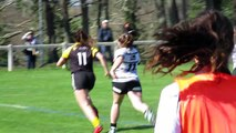 Stade Montois rugby féminin 34 - 10 Stade Poitevin Rugby 1er essai Perle