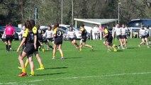 Stade Montois rugby féminin 34 - 10 Stade Poitevin Rugby  3ème essai Alexia Cerenys