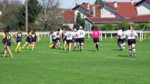 Stade Montois rugby féminin 34 - 10 Stade Poitevin Rugby  5ème essai Aude Rebauger