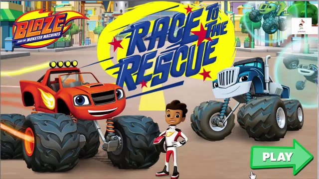 Blaze and The Monster Machines Blaze RACE to the RESCUE Full Episode Game Video for Kids