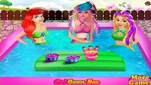 Ariel, Barbie e Rapunzel Princesas Dia de piscina Princesas Disney