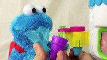 Play Doh Ice Cream Cone Surprise Cookie Monster Loves Ice-Cream Cones & Sweet Cookies! Ses