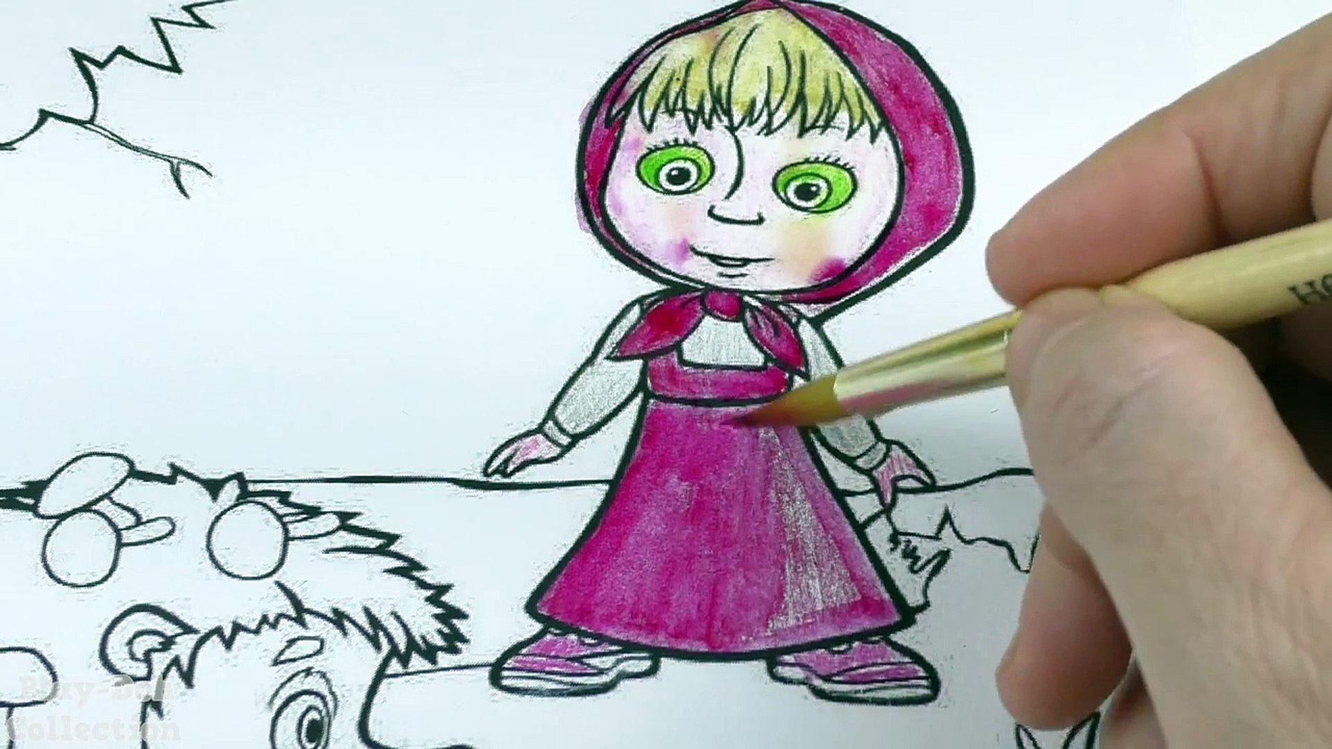маша и медведь Coloring Pages Masha And The Bear Coloring Book