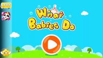 Learn Words and what Babies do with Baby Pandas Daily Life by BabyBus Kids Games
