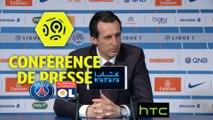 Conférence de presse Paris Saint-Germain - Olympique Lyonnais (2-1) : Unai EMERY (PARIS) - Bruno GENESIO (OL) / 2016-17