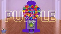 Gumball Machine 3D Color Balls Basketball Ball Pit Show for Kids to Learn Colours with Egg