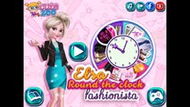Elsa Round the Clock Fashionista - Disney Princess Dress Up Games