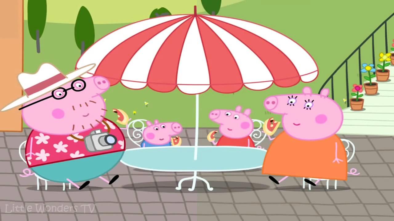 ☀ Peppa Pig Lets Make Pizza ☀ Peppa Pig Making Pizza ☀ Peppa Pigs Holiday App Demo For Ki