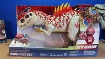 Jurassic World INDOMINUS REX Toy Dinosaurs Hybrid Rampage & Armor I-REX Dinosaur Toys Review-D8bm