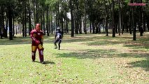 IRON MAN vs VENOM Picnic Trolling Prank in Real Life - Funny Superhero Movie-ePCB