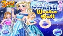 Disney Snowflakes Winter Ball - Princess Elsa Anna and Rapunzel Dress Up Games
