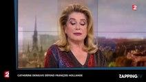Catherine Deneuve défend François Hollande sur France 2