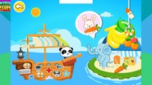 Baby Panda Game. Brave Panda helps friends. Sea adventures. Game app for kids.
