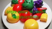 Learn names of fruits and vegetables with toy velcro cutting fruits and vegetabl