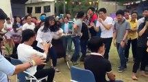 Fête de la francophonie 2017 à Danang au Vietnam jeu des chaises musicales revisité en quiz langue