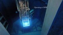 Coeur d'un réacteur nucléaire en fusion filmé dans une centrale !