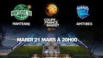 LIVE - Coupe de France - Demi-finale   Nanterre (Pro A) - Antibes (Pro A)
