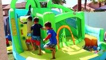 GIANT BIGGEST WATER SLIDE BOUNCER Kids Little Tikes Bounce House Wet Dry Summer Water Park