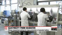 Korean researchers conduct research on seawater battery for industrial use and commercial distribution
