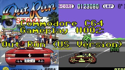 Commodore C64 Gameplay #002: Out Run (US Version) (cheatrun)