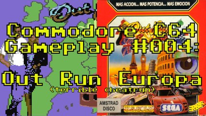 Commodore C64 Gameplay #004: Out Run Europa (frustrating cheatrun)