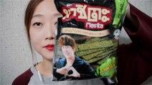 [ASMR] Thailand Snacks Tasting♥ 구독자 분이 보내주신 태국과자 맛보기 냠냠