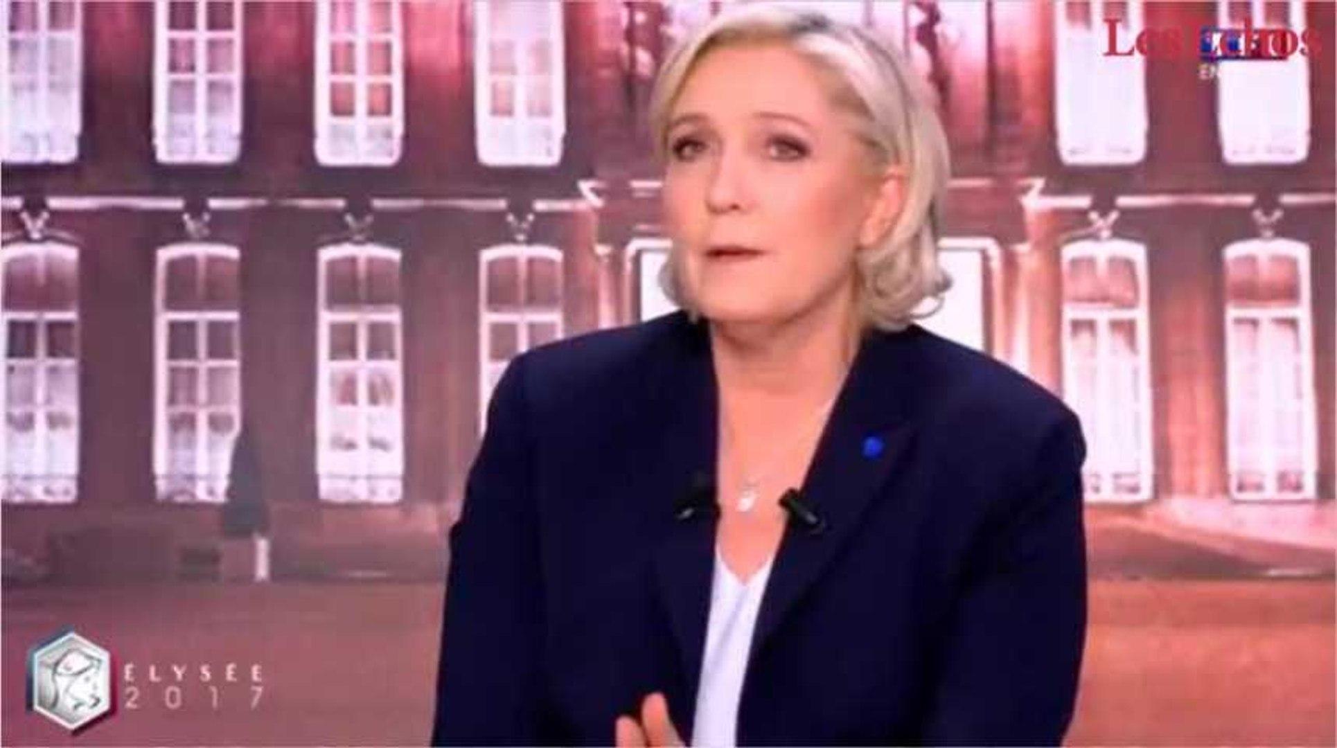 Le Pen se défend d'être la « candidate du Front National » et attaque Macron