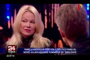 Pamela Anderson pide asilo para  Julian Assange