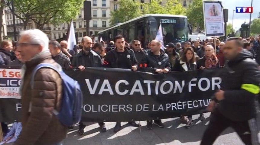 Au lendemain de l'hommage à Xavier Jugelé, les policiers manifestent de nouveau à Paris