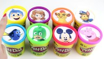 PJ Masks Game - Play Doh Surprise Cups PJ Masks, Paw Patrol, Peppa Pig, Mickey Mouse, Bubb