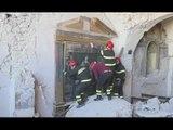 Nottoria di Norcia (PG) - Terremoto, recupero beni in chiesa Santo Stefano (20.03.17)