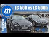 Lexus LC 500 vs Lexus LC 500h comparativa sonido onboard