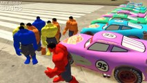 Spiderman Colors & Hulk Colors Nursery Rhymes and Lightning McQueen Colors (Children Songs