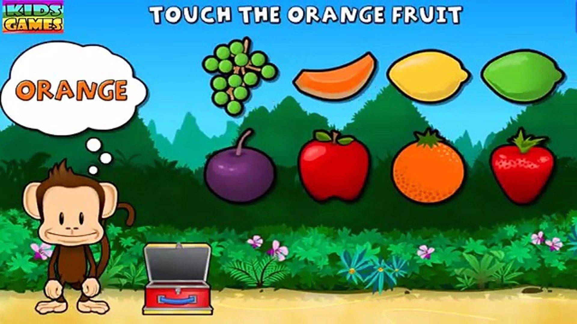 Образование мультфильм обезьяна дошкольного lunchbox узнать названия фрукты и овощи игры для малышей