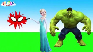 Spiderman vs Frozen Elsa M&M Prank - Elsa Afraid of Ghost