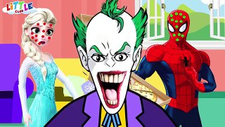 Spiderman vs Frozen Elsa Pizza Prank - JOKER & Superheroes Pranks