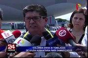 Colombia entregó 30 toneladas de ayuda humanitaria para damnificados en Perú