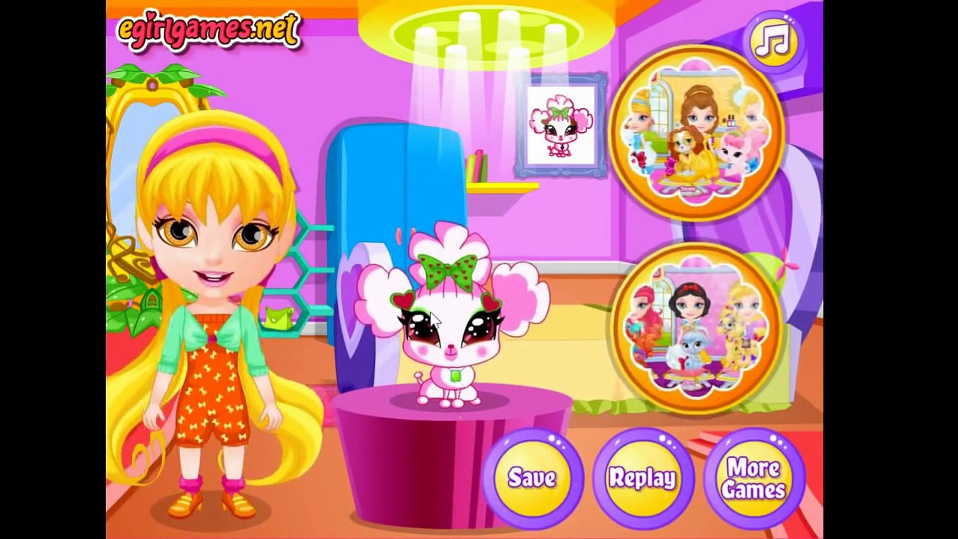 Baby Barbie My Fairy Pets -Winx Musa, Techna, Stella Pets Ginger, Pepe & Chick Care Game F