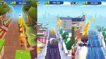 Talking Tom Gold Run vs (Tom Cat 2 Angela Ben Ginger Jetski Friends) All Outfit 7 Games Co
